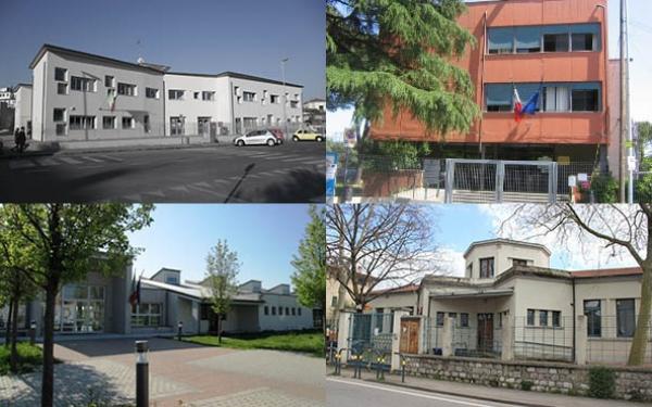 Facciate delle quattro scuole primarie
